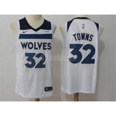 Minnesota Timberwolves #32 Karl-Anthony Towns White Nike Swingman Men Jersey