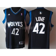 Minnesota Timberwolves #42 Kevin Love Black New Revolution 30 Men Jersey