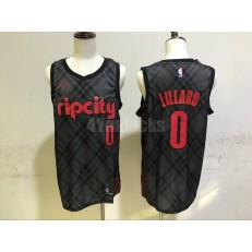 Portland Trail Blazers #0 Damian Lillard Black City Edition Nike Swingman Men Jersey