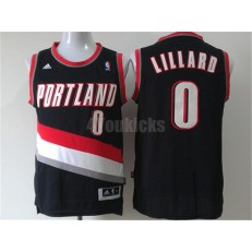 Portland Trail Blazers #0 Damian Lillard Black New Revolution 30 Men Jersey
