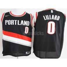 Portland Trail Blazers #0 Damian Lillard Black Nike Authentic Men Jersey