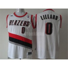 Portland Trail Blazers #0 Damian Lillard White New Revolution 30 Men Jersey