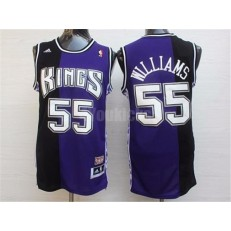 Sacramento Kings #55 Jason Williams Black And Purple Hardwood Classics Jersey