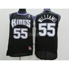 Sacramento Kings #55 Jason Williams Black Throwback Men Jersey