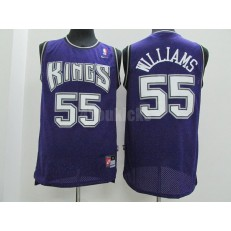 Sacramento Kings #55 Jason Williams Purple Throwback Men Jersey