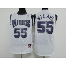 Sacramento Kings #55 Jason Williams White Throwback Men Jersey