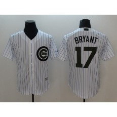 MLB Chicago Cubs #17 Kris Bryant White 2018 Memorial Day Cool Base Men Jersey