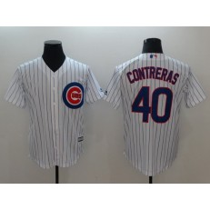 MLB Chicago Cubs #40 Willson Contreras White Cool Base Men Jersey