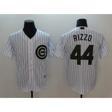 MLB Chicago Cubs #44 Anthony Rizzo White 2018 Memorial Day Cool Base Men Jersey