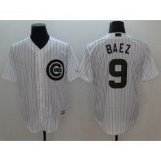 MLB Chicago Cubs #9 Javier Baez White 2018 Memorial Day Cool Base Men Jersey