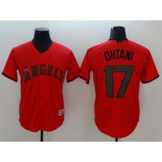 MLB Los Angeles Angels #17 Shohei Ohtani Red 2018 Memorial Day Cool Base Men Jersey