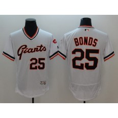 MLB San Francisco Giants #25 White Flexbase Authentic Collection Cooperstown Stitched Men Jersey