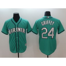 MLB Seattle Mariners #24 Ken Griffey Jr. Green Alternate Cool Base Men Jersey
