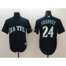 MLB Seattle Mariners #24 Ken Griffey Jr. Navy Cool Base Men Jersey