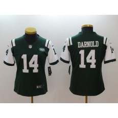 Women Nike New York Jets #14 Sam Darnold Green Vapor Untouchable Player Limited NFL Jersey