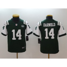 Youth Nike New York Jets #14 Sam Darnold Green Vapor Untouchable Player Limited NFL Jersey