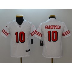Youth Nike San Francisco 49ers #10 Jimmy Garoppolo White Color Rush Vapor Untouchable Limited NFL Jersey