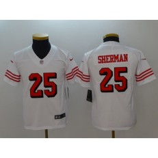 Youth Nike San Francisco 49ers #25 Richard Sherman White Color Rush Vapor Untouchable Limited NFL Jersey