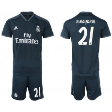 2018-19 Real Madrid 21 B. MAYORAL Away Soccer Men Jersey
