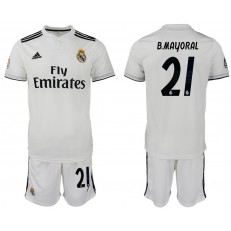 2018-19 Real Madrid 21 B. MAYORAL Home Soccer Men Jersey