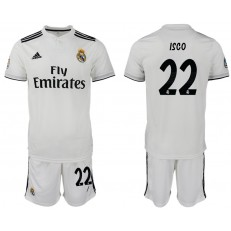 2018-19 Real Madrid 22 ISCO Home Soccer Men Jersey