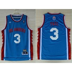 Los Angeles Clippers #3 Chris Paul Blue Hardwood Classics Swingman Men Jersey