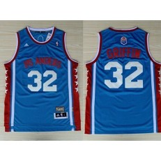 Los Angeles Clippers #32 Blake Griffin Blue Hardwood Classics Swingman Men Jersey