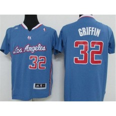 Los Angeles Clippers #32 Blake Griffin Light Blue Pride Swingman Men Jersey
