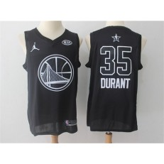 Golden State Warriors #35 Kevin Durant Black NBA Jordan Swingman 2018 All-Star Game Men Jersey
