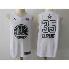 Golden State Warriors #35 Kevin Durant White NBA Jordan Swingman 2018 All-Star Game Men Jersey