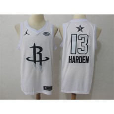 Houston Rockets #13 James Harden White NBA Jordan Swingman 2018 All-Star Game Men Jersey