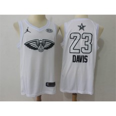 New Orleans Pelicans #23 Anthony Davis White 2018 All-Star Game Swingman Men Jersey