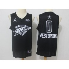 Oklahoma City Thunder #0 Russell Westbrook Black NBA Jordan Swingman 2018 All-Star Game Men Jersey