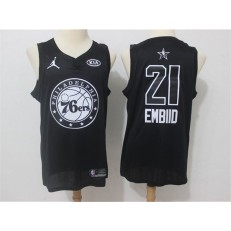Philadelphia 76ers #21 Joel Embiid Black NBA Jordan Swingman 2018 All-Star Game Men Jersey