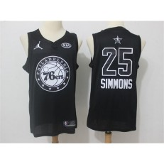 Philadelphia 76ers #25 Ben Simmons Black NBA Jordan Swingman 2018 All-Star Game Men Jersey