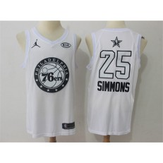 Philadelphia 76ers #25 Ben Simmons White NBA Jordan Swingman 2018 All-Star Game Men Jersey