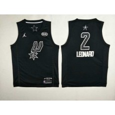 San Antonio Spurs #2 Kawhi Leonard Black NBA Jordan Swingman 2018 All-Star Game Men Jersey