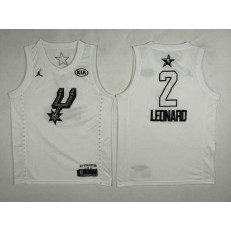 San Antonio Spurs #2 Kawhi Leonard White NBA Jordan Swingman 2018 All-Star Game Men Jersey