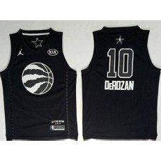 Toronto Raptors #10 DeMar DeRozan Black NBA Jordan Swingman 2018 All-Star Game Men Jersey