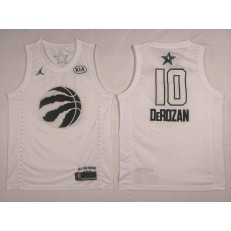 Toronto Raptors #10 DeMar DeRozan White NBA Jordan Swingman 2018 All-Star Game Men Jersey