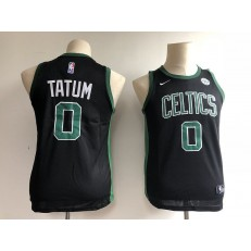 Boston Celtics #0 Jayson Tatum Black Nike Swingman Youth Jersey