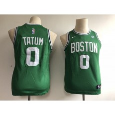 Boston Celtics #0 Jayson Tatum Green Nike Swingman Youth Jersey