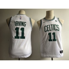 Boston Celtics #11 Kyrie Irving White Nike Swingman Youth Jersey