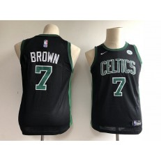 Boston Celtics #7 Jaylen Brown Black Nike Swingman Youth Jersey
