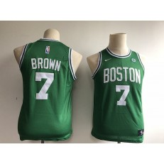 Boston Celtics #7 Jaylen Brown Green Nike Swingman Youth Jersey