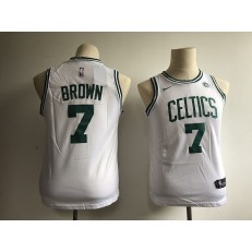 Boston Celtics #7 Jaylen Brown White Nike Swingman Youth Jersey