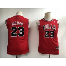 Chicago Bulls #23 Michael Jordan Red New Youth Jersey