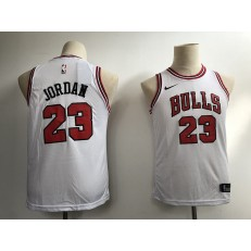 Chicago Bulls #23 Michael Jordan White Nike Swingman Youth Jersey