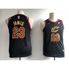 Cleveland Cavaliers #23 LeBron James Black Nike Swingman Youth Jersey