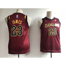 Cleveland Cavaliers #23 LeBron James Red Nike Swingman Youth Jersey